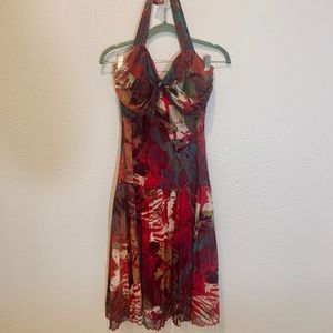 Gorgeous Joseph Ribkoff Floral Print Halter Dress!